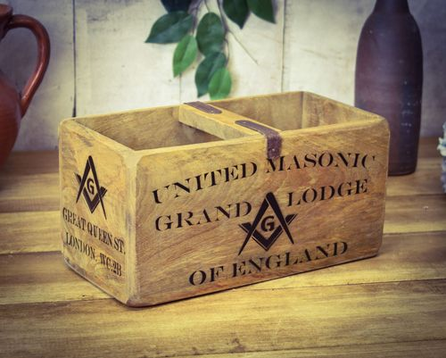 Medium Vintage Box Freemason